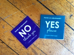 THESE are consent cards