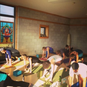 Oh ya, we did some yoga too