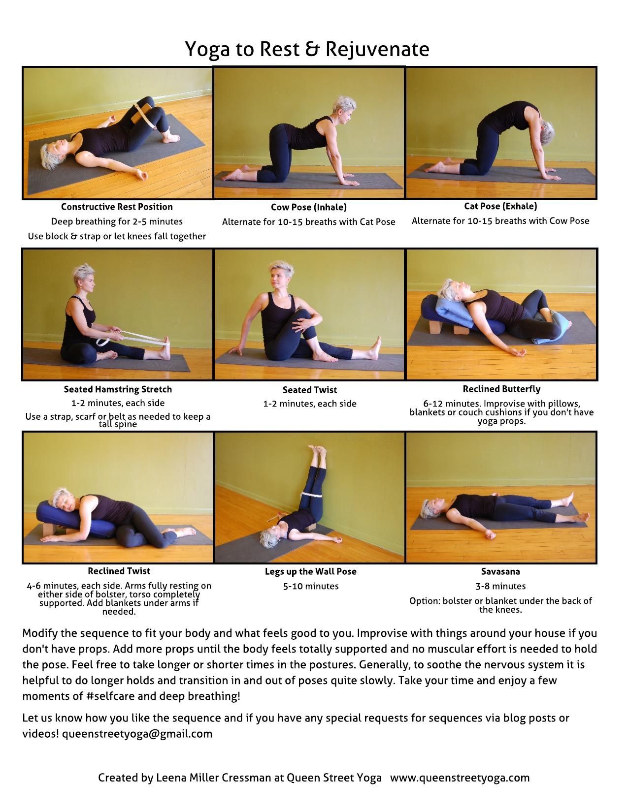 Yoga To Rest Amp Rejuvenate Queen Street Yoga