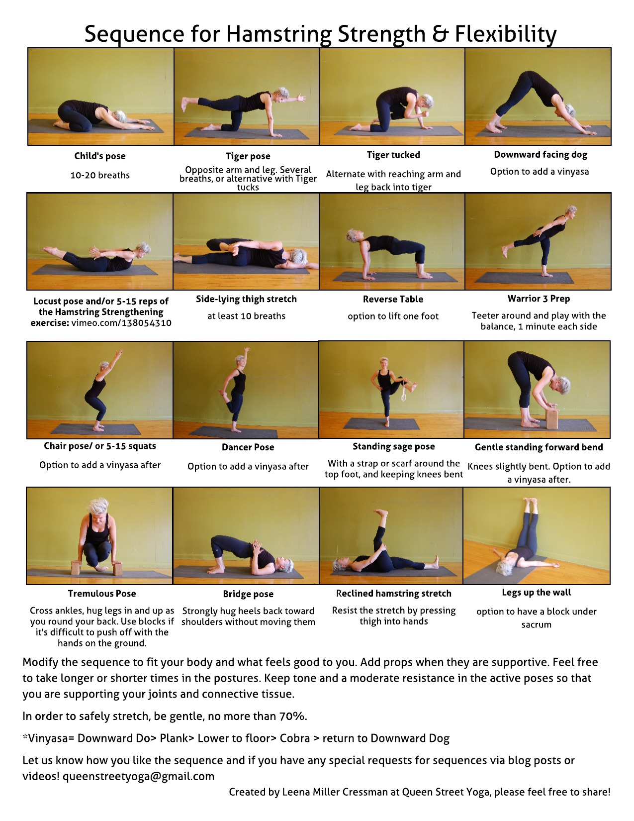 Hamstring Strength And Flexibility Sequence Queen Street Yoga