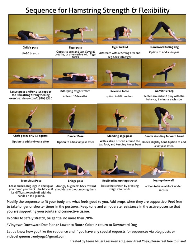 sequence for hamstring strength & flexibility