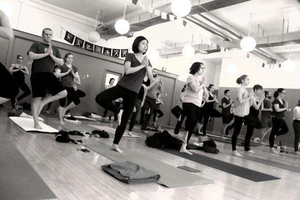 B&W yoga photo