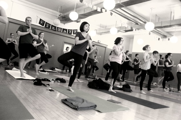 B&W yoga photo