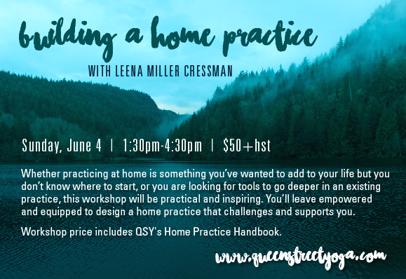Re-Post: Establishing a home practice