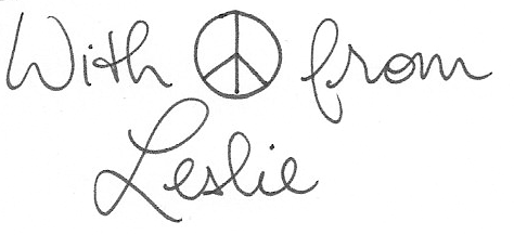 Copy of Peace from Leslie